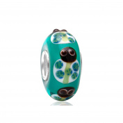 Everbling Ladybird Beetle Animal Murano Glass 925 Sterling Silver Bead Fits Pandora Charm Bracelet