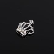 PriMI 3D Silver Crown Crystal Rhinestone Alloy Nail Art DIY Decoration