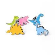 Haodou 5 Pcs Alloy Brooch Children Birthday Pins Cute Dinosaur Shape Gift Collar Lapel Badge Jewellery-Colourful