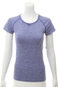 IDEOLOGY $34.5 NEW 2784 Seamless Short Sleeve Womens Athletic Top XS