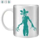 STUFF4 Tea/Coffee Mug/Cup 350ml/Turquoise/Strange Retro Demogorgon/White Ceramic/ST10