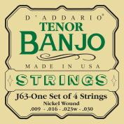 D'Addario J63 Regular Light Tenor Banjo Strings Set