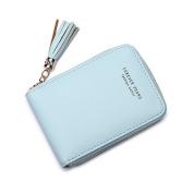 Bodhi2000® Womens Girls Coin Purse Card Holder Zipper Wallet with Tassel