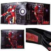 Marvel Comics Avengers Superhero Iron Man Character Leather Look Bi-Fold Wallet