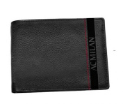 Wallet MILAN Man in Leather Black with Flap 14759