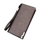Bodhi2000® Mens Long Wallet RFID Blocking Slim Vintage Bifold Wallet Card Holder
