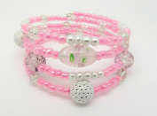 Memory Wire Bracelet Jewellery Making Kit Pink with Instructions K0013