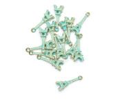 FENGLANG RetroTibet Green Beads Spacer Beads Caps For Jewellery Making European Bracelet