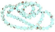 AVBeads Round Glass Mottled Beads, 2 Strands, Sky Blue