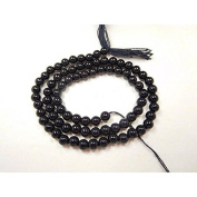 black onyx natural gemstone 3-4 mm smooth round beads ua3 round beads, gemstone beads, round bead,beads for jewellery 13 INCHES strand.