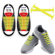 Homar No Tie Shoelaces for Kids and Adults - Best in Sports Fan Shoelaces ¨C Waterproof Silicon Flat Elastic Athletic Running Shoe Laces with Multicolor for Sneaker Boots Board Shoes and Casual Shoes