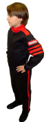 RACEQUIP/SAFEQUIP Black/Red Youth Medium Pro-1 1 Piece Driving Suit P/N 1950093