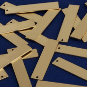 """3/8""""x1 5/8""""(8x40mm)Brass rectangle Stamping Blank Bar,necklace bar blanks ,Name Plated,DIY Jewellery,Sold 20pcs/lot"""
