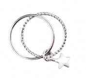 DaoRier Sterling Silver Elegant Ring with Rhinestone Crystal for Girls ladies
