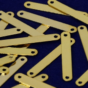22x3mm Brass rectangle Stamping Blank Bar with 2 holes,necklace bar blanks,Name Plated,DIY Jewellery,Sold 20pcs/lot,gold plated