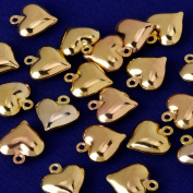 high quality charm 11x13mm Heart Pendant,Charms & Pendants,suit for necklace/bracelet/earring ect,sold 20pcs/lot,gold plated