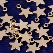 high quality charm 8x6mm star Pendant,Charms & Pendants,suit for necklace/bracelet/earring ect,sold 20pcs/lot,rose gold