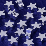 3x7.5mm brass star slippy Spacer Beads,Spacer Connectors,spacer metal beads,sold 20pcs/lot,silver plated