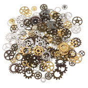 Jeteven 250 Gramme Multicoloured Vintage Gears Charms Pendants Steampunk Watch Wheels Cogs Jewellery Making Charms for Crafting DIY Handmade Necklace Pendants