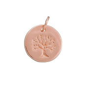 12mm Rose Gold Plated Tree Of Life Disc Charm With Bail