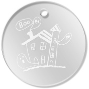11 x 34mm 'Haunted House' Clear Pendants / Charms