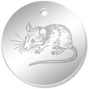 11 x 34mm 'Cute Mouse' Mirror Pendants / Charms