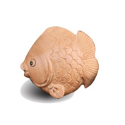 DIY Accessories/Peach/Natural fine carving/woodcarving Vento/ornament/ fish Pendant