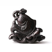 DIY Accessories/ebony/Natural fine carving/woodcarving Vento/ornament/ fish Pendant