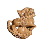 DIY accessories / peach / natural carved / wood carvings / jewellery / horse accessories