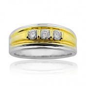 1/2cttw Diamond Wedding Ring 14K White Gold Mens