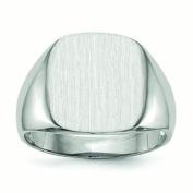 14k White Gold Signet Ring - 4.8 Grammes - Size 10