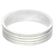Gravity Stainless Steel Men's Matte Striped Ring