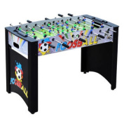 Hathaway Shootout 120cm Foosball Table with Dual Manual-Slide Scoring Systems Built-In Goal Boxes Steel Rods and Ergonomic Handles