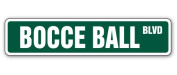 BOCCE BALL Street Sign set balls italy team game player play court Italian gift