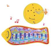 Tapis Tapis Piano Music pour enfant, tactile jouet amusant jeu sous la forme de poissons