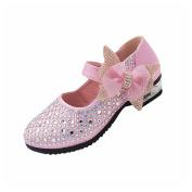 Fuibo Children Boys Girls Flat Shoes Fashion Soild Bowknot Bling Sneaker Party Casual Shoes