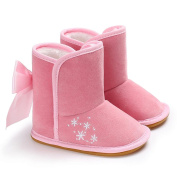 Janly® Winter Boots 0-18 Months Baby Classic Short Ankle Snow Boots Girl Boys Newborn Anti-Slip utterfly-Knot Flock Shoes