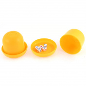 Game Dice Roller Cup Orange 2 Pcs each w 5 Dices