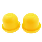 Game Dice Roller Cup Yellow 2 Pcs each w 5 Dices