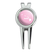 Hawaii HI Home State Golf Divot Repair Tool and Ball Marker - Solid Light Pink