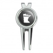 Minnesota MN Home State Golf Divot Repair Tool and Ball Marker - Solid Dark Grey Grey