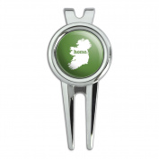 Ireland Home Country Golf Divot Repair Tool and Ball Marker - Solid Green