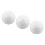 Outdoor Sports Resin Training Practise Golf Ball White 3 Pcs