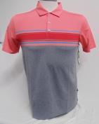 NEW Skechers Performance Go Golf Links Stripe Coral/Red/Grey XXL Golf Polo