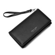 Tianfuheng Women's Hasp Long Wallet Card Holder Phone Bag Faux Leather Coin Purse Clutch