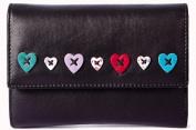 Mala Leather Medium Tri Fold Purse Style Lucy 323530 Colour Black