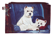 West Highland Terrier Westie Breed of Dog Zipper Lined Purse Pouch Perfect Gift