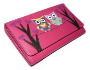 Mala Leather Owl Kyoto Flapover Purse with RFID Protection 3308 / 45