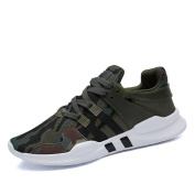 Autumn And Winter Men's sports shoes fashion Leisure Wearable Running Shoes , army green , 43