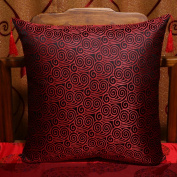 Decorative pillowcase chinese sofa cushions retro brocade fabric embroidery pillow-F 45x45cm(18x18inch)Version B